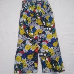 Pants - Floral print wide leg pants